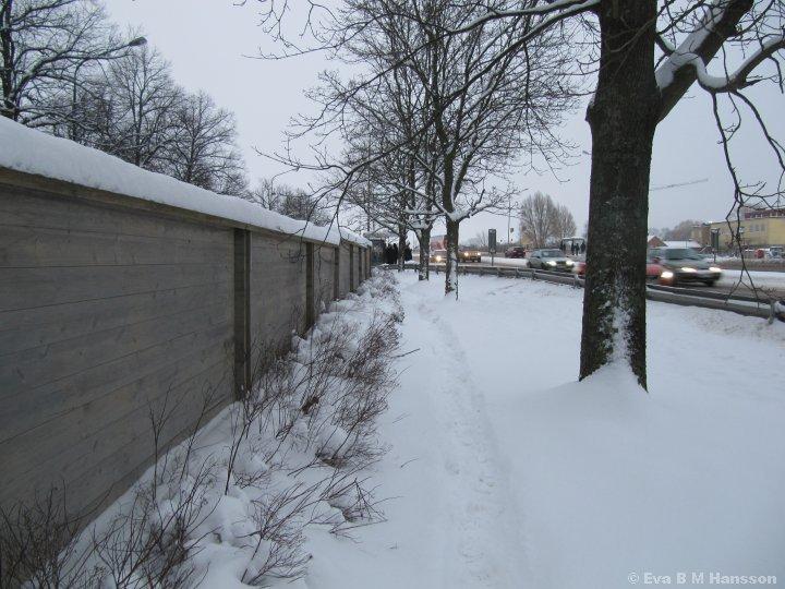På väg hem. Råberga bro kl 16:08 den 5 februari 2015.