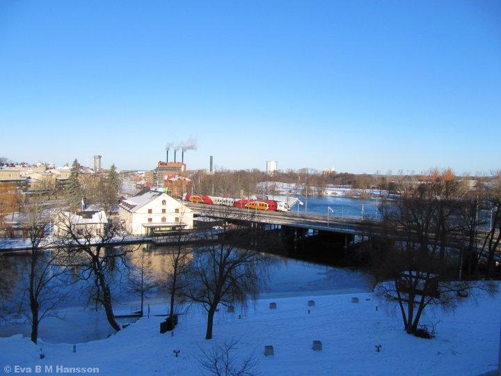 Vacker utsikt. Scandic Linköping City kl 09:46 den 8 februari 2015.