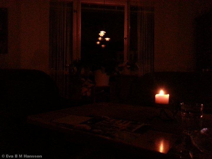 Earth Hour. Söderstaden kl 20:35 den 28 mars 2015.