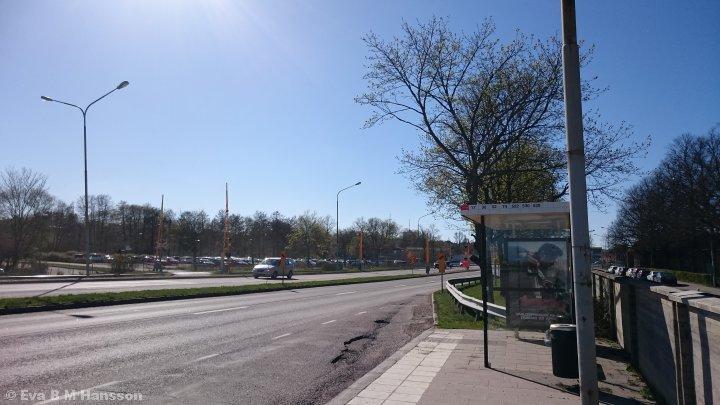 Härligt varm dag. Tannefors kl 15:54 den 21 april 2015.